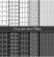 Set of black white Pattern6 vector image