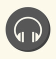 sound headphones a round icon with the vector image