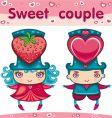 sweet couple vector image