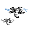 Tribal Turtle Patterns vector image