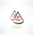 watermelon grunge icon vector image