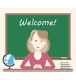 Woman Teacher in Classroom vector image