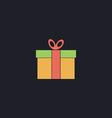 Gift box computer symbol vector image
