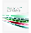 Blurred color waves lines abstract vector image