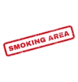 Smoking Area Rubber Stamp vector image