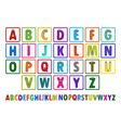 Letter Blocks vector image