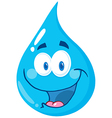 Water Drop Cartoon Character vector image