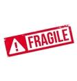 Fragile rubber stamp vector image