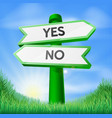 yes or no sign concept vector image vector image