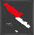 Bengkulu indonesia map with indonesian national vector image