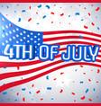 4th of july celebration background vector image