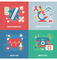 Medical banners templates in trendy flat style vector image
