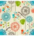 Retro garden seamless pattern vector image vector image