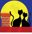 cats on the roof vector image vector image