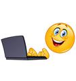 emoticon with computer vector image
