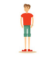 handsome man in shorts vector image