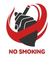 icon on smoking in flat style vector image