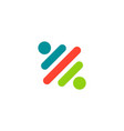 line color partner logo vector image