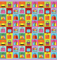 retro pop art women purse and hand bag set pattern vector image