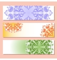 Set of three banner with pattern vector image
