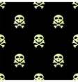 Skull Cross Bones Seamless Pattern vector image