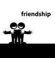 Symbol of friendship vector image