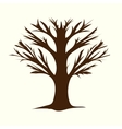 Tree without leaves terrible branches vector image