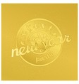 Funny gold badge rock party vector image