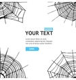 Spider Web Background Card vector image