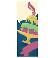 vertical cake card vector image vector image