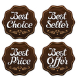 Best Seller Choice Price Offer Labels vector image