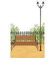 Park bench Background vector image vector image