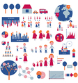 Infographic elements for family and house vector image