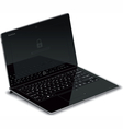 Tablet Left Side View with Keyboard Dock vector image vector image