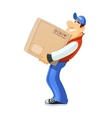 Loader with box Delivery vector image
