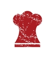 Red grunge chef hat logo vector image