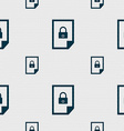 file locked icon sign Seamless pattern with vector image