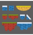 Textures for Platformers Collection vector image