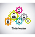 collaborative people design vector image
