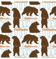 Travel California Bears Seamless Pattern vector image