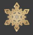 christmas snowflake symbol vector image