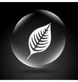 ecology button design vector image