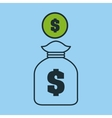 hand hold bag money safe icon vector image