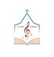 logo audio bible vector image