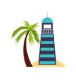 sea lighthouse on the beach vector image
