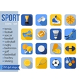 Set of sport icons Flat style design with long vector image