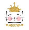 Cute Hand Drawn Cat  Little vector image