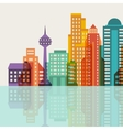 Cityscape background with buildings vector image