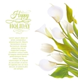 Spring flowers backround with text lettering vector image vector image