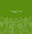 Abstract white easter egg on green background vector image